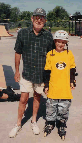 Jack and John at rollerblade park