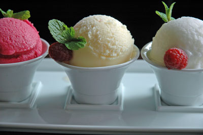 three cups sorbet